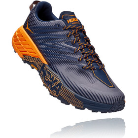 Hoka One One Speedgoat 4 Schoenen Heren, black iris/bright marigold